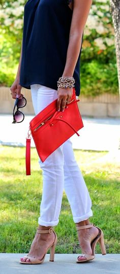 Red + White + Navy.