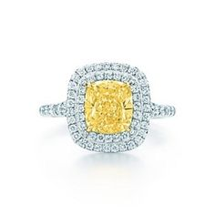 Tiffany Soleste yellow and white diamond ring