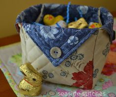 Seaside Stitches: Fabric Box Tutorial
