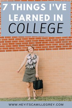 7 Things I've Learned in College. | Hey It's Camille Grey #college #student #collegestudent