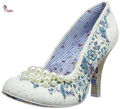 Irregular Choice Pearly Girly, Escarpins femme, Blanc (White), Taille 38 (5 UK) - Chaussures irregular choice (*Partner-Link)