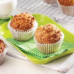 How to Bake Muffins Muffin Recipes, Apple Recipes, Cupcake Recipes, Sweet Recipes, Peanut Butter Muffins, Healthy Peanut Butter, No Bake Desserts, Delicious Desserts, Baking Muffins