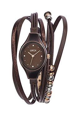 Opex - X2346LA2 - Filante - Montre Femme - Quartz Analogique - Cadran Marron - Bracelet Cuir Marron Opex http://www.amazon.fr/dp/B00ND6WYPC/ref=cm_sw_r_pi_dp_cMUgwb1FMAEC4