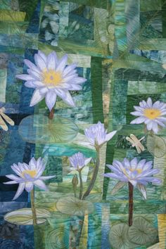 Waterlilies in Kakadu this quilt has been by morethanjustquilts