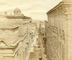 Merchant Street Valletta Malta circa 1854