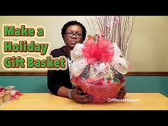 DIY CHRISTMAS GIFT IDEAS/ How to make gift basket from the Dollar Store - YouTube