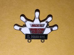 Pacific Recreation Centers El Dorado Bowl Pin Bowling Button Vintage Japan Made