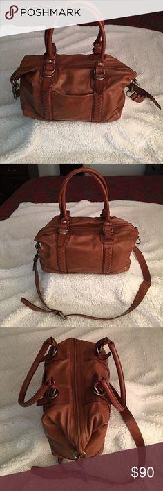 Cole Haan Bag Cole Haan Cognac Brown Satchel Crossbody Bag Cole Haan Bags Satchels
