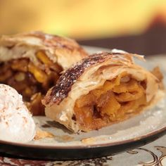Thanksgiving Pumpkin Studel Carla Hall This Fall-inspired baked treat hits the spot with hints of cinnamon and ginger.