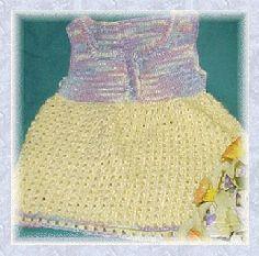 Broomstick Lace Baby Dress by crochetkim2, via Flickr free