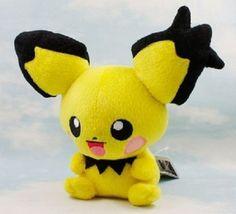 Pichu Pikachu Pokemon 7″ Anime Animal Stuffed Plush Plushies Doll Toys