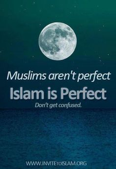 Islam is perfect - but the Muslims are not.