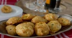 Sage and White Cheddar Gougeres