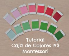 Tutorial caja de color Montessori - DIY Color box and link to free color tablets printable Color Montessori, Montessori Preschool, Montessori Materials, Home Learning, Learning Through Play, Practical Life, Color Box, Color Unit, Tot School