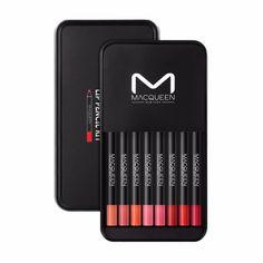 Macqueen Retro Velvet Lip Pencil 8 Color Set plus 1 Sharpener #Macqueen