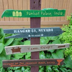 Indiana Jones Wooden Directional Sign 4 Pack  by CurioObscurio, $70.00