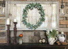 You can create your own repurposed art using an old picture at the thrift store. Farmhouse styling, big impact, on a budget. DIY & Decor and Upcycling. Decor, Picture Frames, Mini Picture Frames, Diy Farmhouse Decor, Repurposed Art, Diy Decor, Home Decor, Autumn Home, Oversized Art