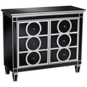 Rodeo Black Glass with Silver Trim Chest
