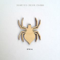 Cute laser cut Spider for Halloween decor / Spider charm / Halloween / Laser cut wood / Halloween decor / Halloween decorations / Wood decor by DosheEcoDecorCharms on Etsy