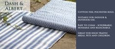 Great indoor & outdoor rugs,great Christmas gift.Stop into any Exeter Paint location for A Dash & Albert gift card.