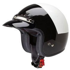 Police Motorcycle Helmet 3/4 Shell W/ Snap On Visor