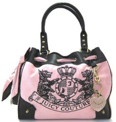 JUICY COUTURE Scottie Embroidery Daydreamer Velour Tote Handbag NWT