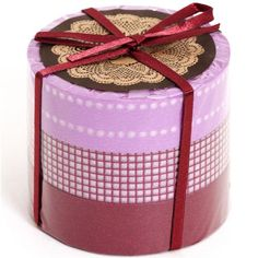 Washi Masking Deco Tape set 3pcs gingham purple