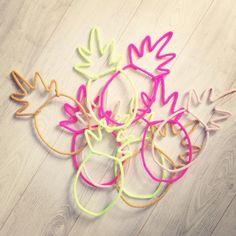 tricotin, ananas, pineapple, mot en laine, mot enlainé, charlie&june