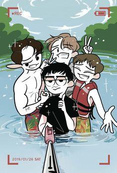 Card Doodles by celesse on deviantART Cute Boy Drawing, Exo Anime, Exo Fan Art, Kpop Drawings, Baekhyun Chanyeol, Aesthetic Stickers, Bts And Exo, Kpop Fanart, Artist Trading Cards