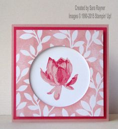 Irresistible lotus blossom card, using supplies from Stampin' Up! #stampinup