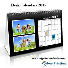 Free Printable 2017 Desktop Calendar in Word format. Monthly and ...