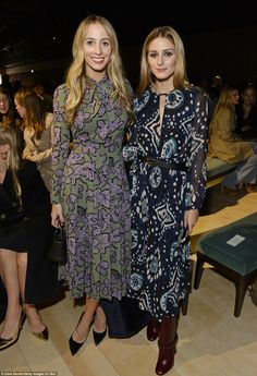 Similar looks: Model and DJHarley Viera-Newton posed up a storm alongside Olivia Palermo as the duo sported similar dresses