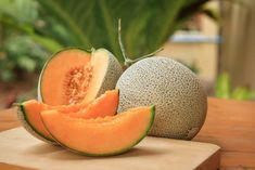 Muskmelons are healthy, delicious, and about to be in season! Muskmelon boasts of plenty of health benefits that will keep you at the prime of your health. Cantaloupe And Melon, How To Pick Cantaloupe, Easy To Grow Bulbs, La Germination, Comment Planter, Healthy Eyes, Best Fruits, Gardens, Juicing