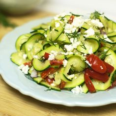 Mediterranean Zucchini Salad. Simple and delicious!