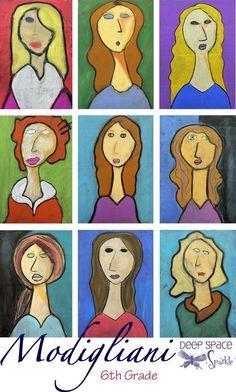 Modigliani-art-lesson: Possible self-portraits lesson.