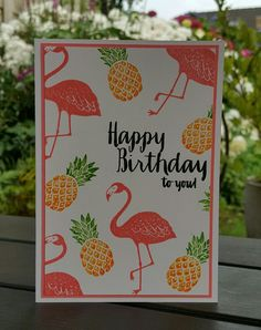 Made by Petra Tillmann Stamps by Stampin' Up! Pop of Paradise Flirty Flamingo