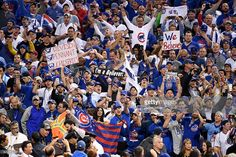 Chicago Cubs fans celebrate after the Cubs defeated the Cleveland Indians 8-7 in Game Seven of the 2016 World Series at Progressive Field on November 2, 2016 in Cleveland, Ohio. The Cubs win their first World Series in 108 years.