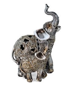 Loving this Silver Filigree Elephant & Baby Figurine on #zulily! #zulilyfinds