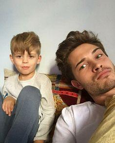 Francisco Lachowski and son, Milo