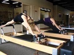 reverse elephant - pilates reformer Also known as the Russian splits, love this!
