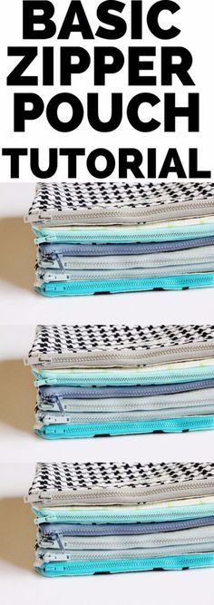 Creative DIY Projects With Zippers - Basic Zipper Pouch - Easy Crafts and Fashion Ideas With A Zipper - Jewelry, Home Decor, School Supplies and DIY Gift Ideas - Quick DIYs for Fun Weekend Projects diyjoy.com/...