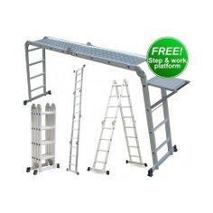 Multi Purpose Ladder Step Ladder, Extension Ladder, Platform And More