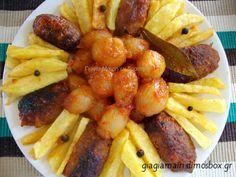 Σουτζουκάκια!!!!! Θα σας κάνω με τα κρεμμυδάκια!!!!! Pork, Potatoes, Vegetables, Cooking, Ethnic Recipes, Sweet, Greek Recipes, Kale Stir Fry, Kitchen