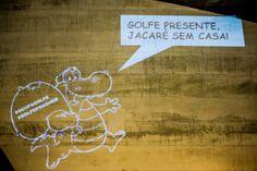 Ocupa Golfe: contra a construção ilegal do Campo de Golfe na Barra da Tijuca, na Reserva Ambiental de Marapendi. Apoio: Coletivo Projetação