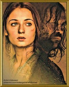 Sansa & Sandor ~ Artist: Unknown
