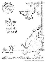 This is a picture of Witty Gruffalo Coloring Pages