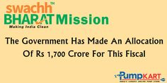 The Government Of #India Has Made An Allocation Of Rs.1700 Crores For Effective Implementation Of The #SwachhBharatAbhiyan. Join and Support  #Swachh_Bharat_Abhiyan