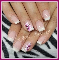 French Tip Nail Art, One Stroke Nails, Baby Boomer, Nail Art Designs, Acrylic Nails, Make Up, Glitter, Pretty, Beauty