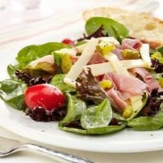 Ham, Garden Vegetable and Spring Mix Salad with Swiss Cheese - Allrecipes.com