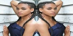 Hairstyles for Black Girl with Centre-Parted Crown with Fishtail Braid